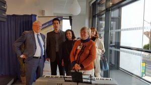 Avec Georges Mothron et Françoise Inghelaere