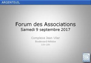 Forum des Associations Argenteuil