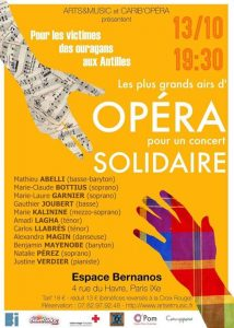 Les plus grands airs d'OPÉRA pour un concert Solidaire @ Espace Georges Bernanos | Paris | France
