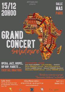 Grand Concert Solidaire @ MAS Paris | Paris | France